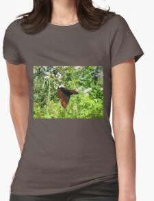 Hanging butterfly wondering how it got like this Womens Fitted T-Shirt