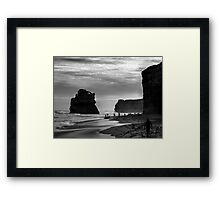 Beach On The Great Ocean Road Victoria Australia Framed Print