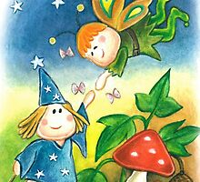 witch and elf by Laura Bruni