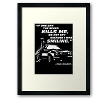Paul Walker - The Speed Framed Print