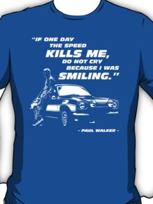 Paul Walker - The Speed T-Shirt