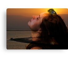 Welcoming the new day Canvas Print