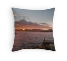 Lowry Sunset strip Throw Pillow