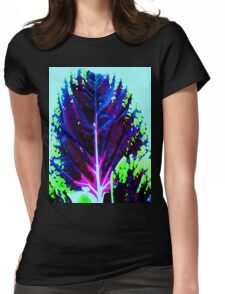 Blue Leaf Womens Fitted T-Shirt