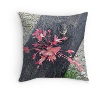 Regrowth in Red Throw Pillow