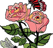 bugs and roses by genevievem