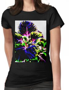 Coloured Foliage Womens Fitted T-Shirt