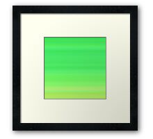 Green Leaves Stripes Framed Print