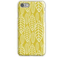 Vector leaf seamless pattern iPhone Case/Skin