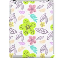 Summer flowers seamless vector pattern iPad Case/Skin