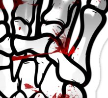 HEAVY METAL HAND SIGN - bloody Sticker