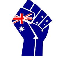Raised Fist - Australian Flag by MikeTheGinger94