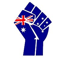Raised Fist - Australian Flag Photographic Print