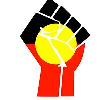 Raised Fist - Aboriginal Flag by MikeTheGinger94