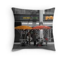 I am on the phone Throw Pillow