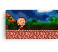 Bonk / BC Kid retro painted pixel art Canvas Print