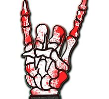 HEAVY METAL HAND SIGN - blood spatter by sleepingmurder