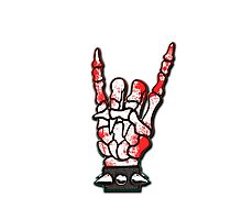 HEAVY METAL HAND SIGN - blood spatter Photographic Print