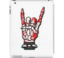 HEAVY METAL HAND SIGN - blood spatter iPad Case/Skin