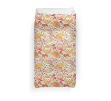 Woodland Hedgehogs - a pattern in soft neutrals  Duvet Cover