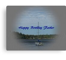 Happy Birthday Father Card Canvas Print