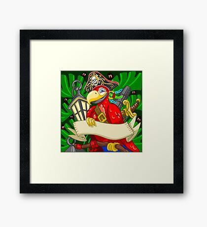 Adventure Time - Boatswain Corsair Red Parrot Framed Print