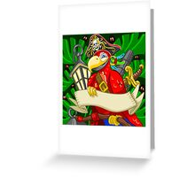 Adventure Time - Boatswain Corsair Red Parrot Greeting Card