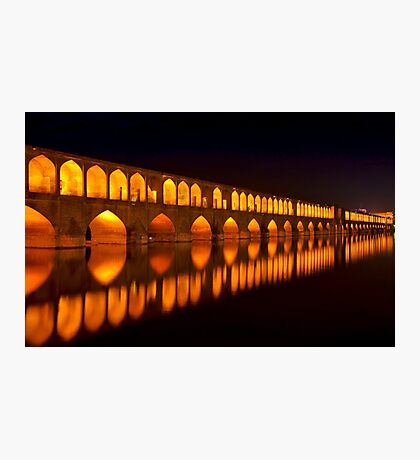 Si-o-Seh Pol (Bridge) - Isfahan - Iran Photographic Print