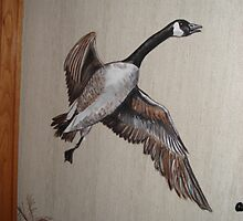 Part of Canandian Goose mural by viveca
