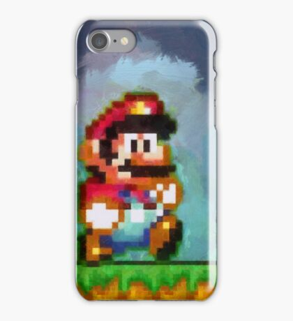 Super Mario retro painted pixel art iPhone Case/Skin