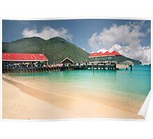 St. Maarten, harbor view Poster
