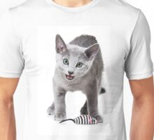 silver kitten meows Unisex T-Shirt