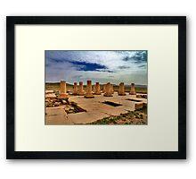 Cyrus' Palace - Pasargadae - IRAN Framed Print