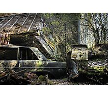 16.5.2015: Scrap Cars and Abandoned House Photographic Print