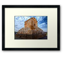 The Tomb of Cyrus The Great - Iran Framed Print