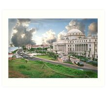 Puerto Rico, capital view Art Print