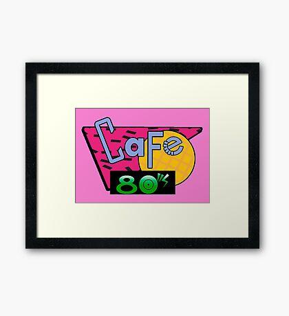 Cafe 80's Framed Print