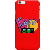 Cafe 80's iPhone Case/Skin