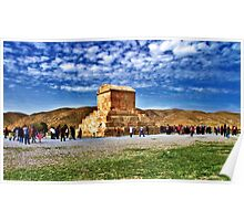 The Tomb of Cyrus The Great - Distance Poster