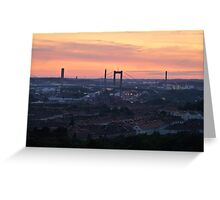 Sunset over the Gothenburg Harbour Greeting Card