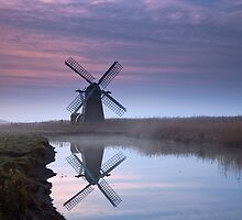 Herringfleet Reflection by Rick Bowden