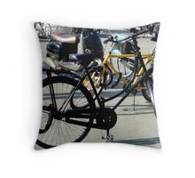 Who wants to have a bike ride Throw Pillow