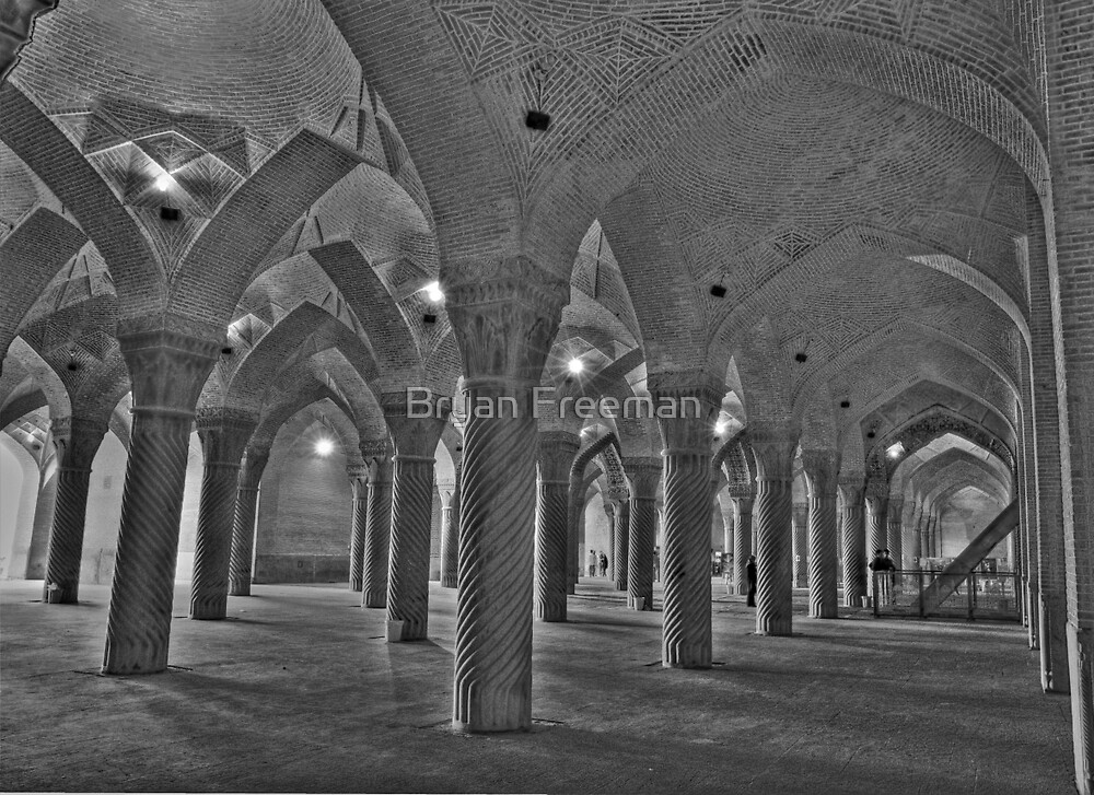 Inside Vakil Mosque - Shiraz - IRAN by Bryan Freeman