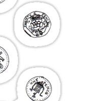 coins & purse Sticker