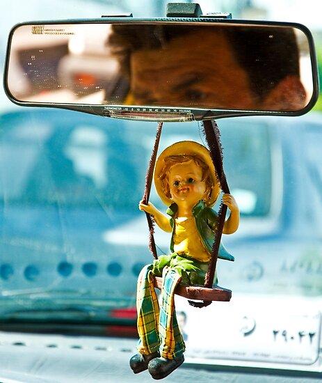 Taxi Driver - Shiraz - Iran by Bryan Freeman