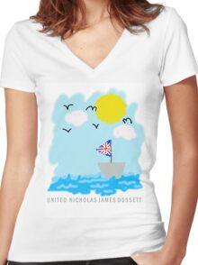UNITED Seaside Trip Women's Fitted V-Neck T-Shirt