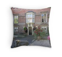 Abbey House, Winchester, southern England Throw Pillow