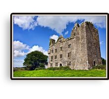 Leamanagh Castle, County Clare, Ireland. Canvas Print