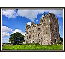 Leamanagh Castle, County Clare, Ireland. Photographic Print