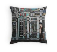 Storefront In Boothbay Harbor Throw Pillow